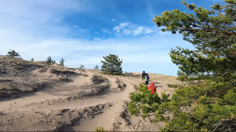 песчаные дюны - остров Большой Тютерс