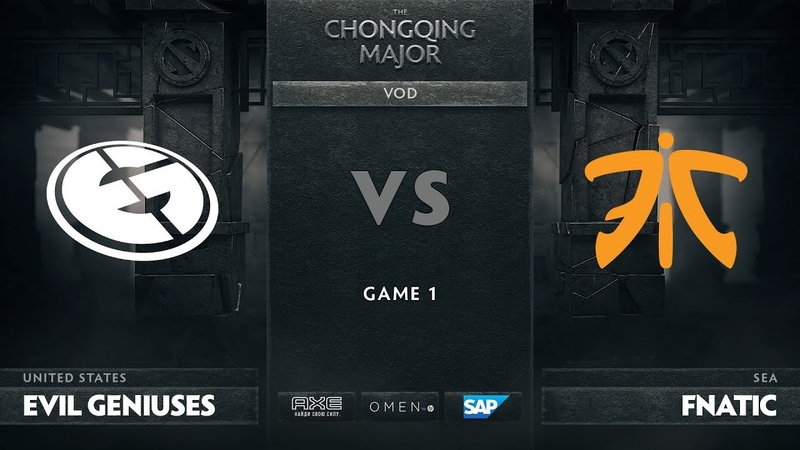 Evil Geniuses vs Fnatic - Game 1, Group D - The Chongqing Major 2019