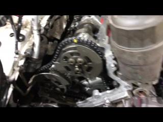 Замена цепей ГРМ на бензиновом двигателе 5.0 SC