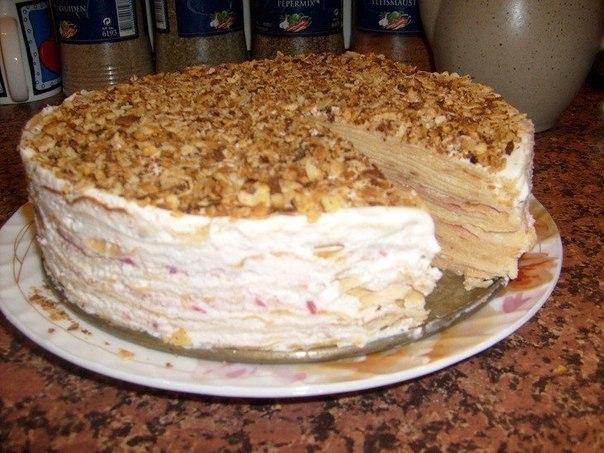 Блинный торт пошаговый фото рецепт