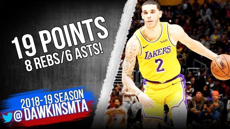 Lonzo Ball Full Highlights 2019.01.15 Lakers vs Bulls - 19 Pts, 8 Rebs, 6 Asts!   FreeDawkins