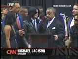 Michael Jackson at James Browns Funeral 2006