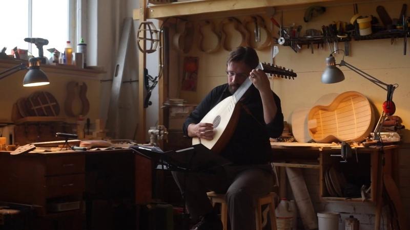 Renaissance lute Ренессансная лютня, Anthony Holborne – Muy Linda, Keeper workshop