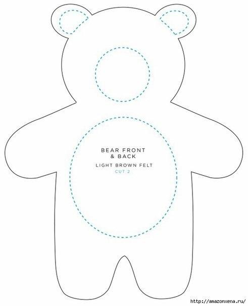 Медведь из фетра выкройки