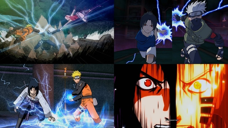 Evolution of Team Ultimate Jutsu Ougi in Naruto Games 1080p 60 FPS