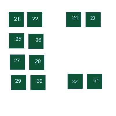 Схема номеров мест в районе