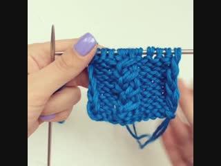 Скрещивание трех петель с наклоном вправо от @inga_knitting_baby