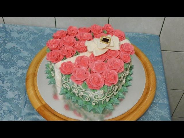 Торт в форме сердца