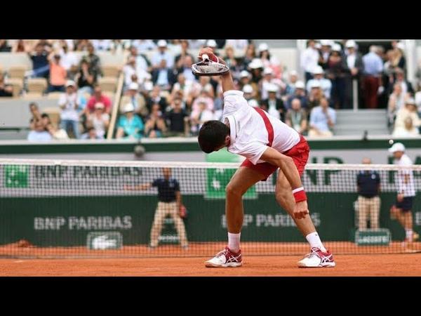 DJOKOVIC EXPLOSE SA RAQUETTE !! (Roland Garros 2018)