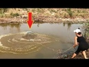 Невероятная Девушка Бросила Рыболовную Сеть 9 Кг Гигантской Черепахи!