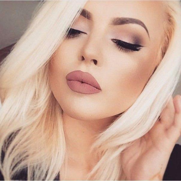 Фото макияж для блондинок