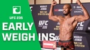 UFC 235 Early Weigh-In Highlights