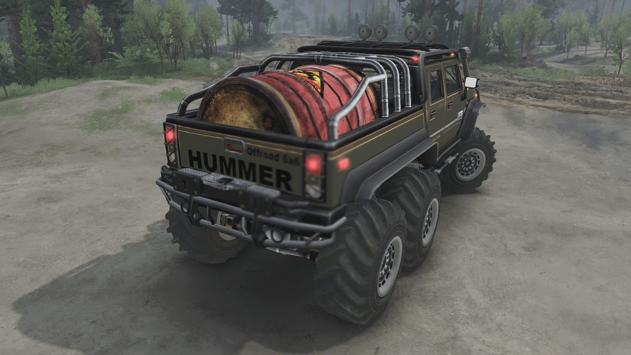 HUMMER H2 Diesel (6x6) для 03.03.16 для Spintires - Скриншот 3