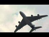 Взлет и посадка А380 на Максе-2011