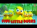 Пять Маленьких Утят - Детские песни на английском языке - Считалка для детей