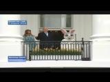 Дональд Трамп и офигевший зайка + гусь напугал американских солдат (Время покажет 04 04 2018)