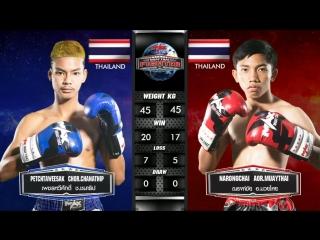 Безжалостная тайская молодёжь: Petchtaweesak Chor.Chanathip vs. Narongchai Aor.Muaythai. MAX Muay Thai.