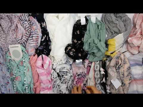 Headscarfs New Summer Mix (3 kg) - легкие летние платки сток 6 пакетов (состав мешков у всех похожий)