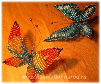 бабочка из бисера - Самое
