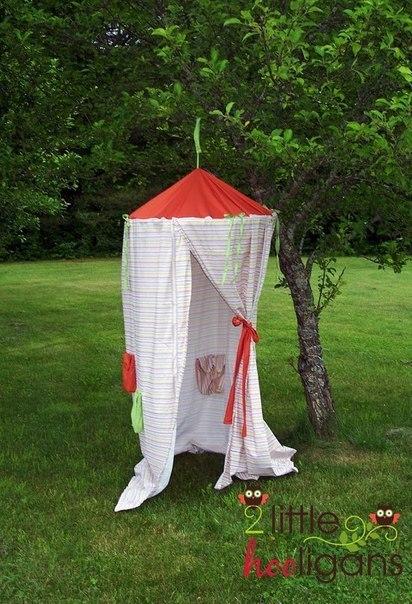 Детская палатка своими руками (7 фото) - картинка