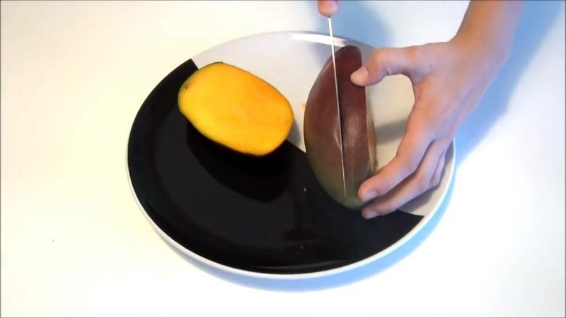 Как почистить и разделать манго легко, быстро и красиво - 2 способа