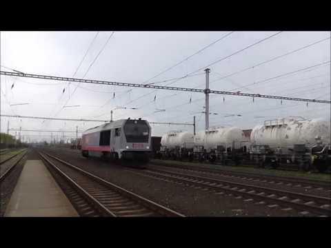 Šocení | Vlaky ve stanici Vraňany 15.4.2018