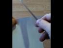 Нож шейник из нержавеющего дамаска