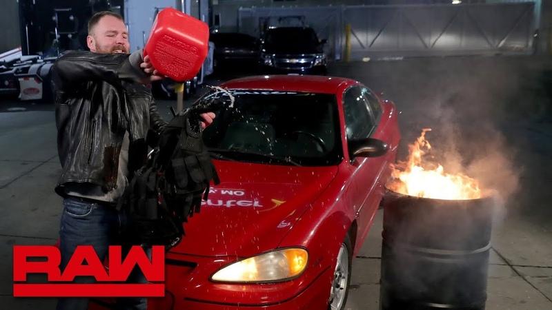 The «Kingslayer»: Dean Ambrose sets his Shield vest on fire: Raw, Nov. 12, 2018