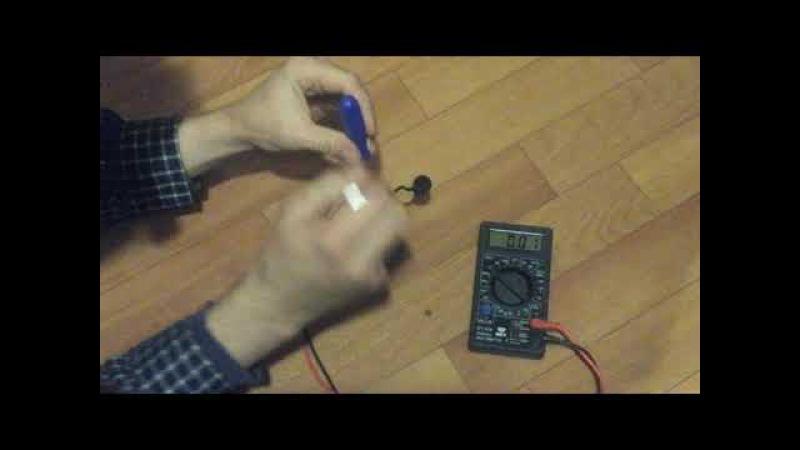 Замер напряжения ( = 3.3 вольт) на спирали электронной сигареты Kayfun mini v3
