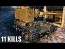 КВ 2 наказал детишек 🌟 11 ФРАГОВ 🌟 World of Tanks танк КВ 2 раздает ваншоты