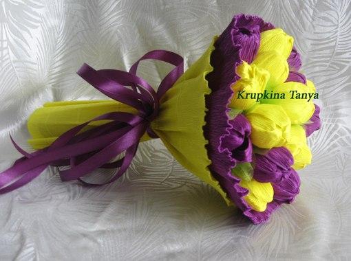 Бумажные цветы с конфетами своими руками из бумаги фото 342