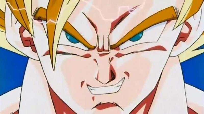 Goku Turns Super Saiyan 3 for the First Time English Dub
