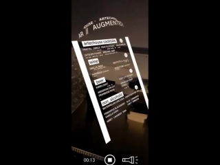AR augmented reality menu #robotmoda
