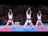 (12) Karate Japan vs Italy. Final Female Team Kata. WKF World Karate Championships 2012