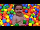 Learn colors with Baby and Ball Education video for children and kids with finger family song