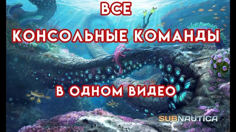 Subnautica ВСЕ КОНСОЛЬНЫЕ КОМАНДЫ