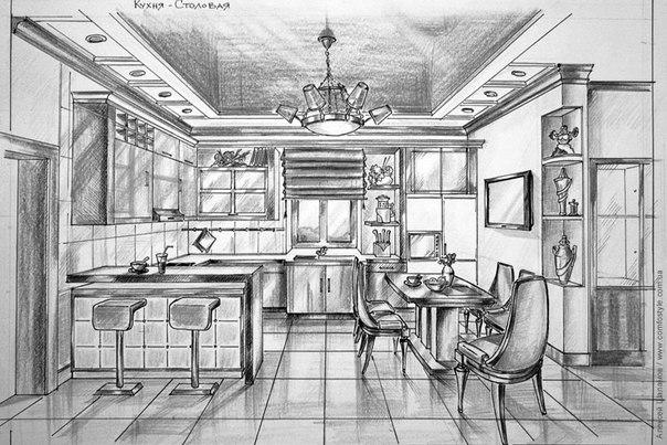 Кухня эскизы