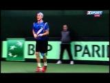 Davis Cup 2014 Group 1 Ukraine Romania Game 2 Illya Marchenko vs Victor Hanescu rgfpptball ne