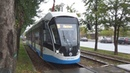 Трамвай 71 931М Витязь М №31165 с маршрутом №35 Новоконная Площадь Нагатино