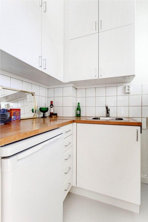 Квартира-студия 27 м в Европе с мини-кухней.