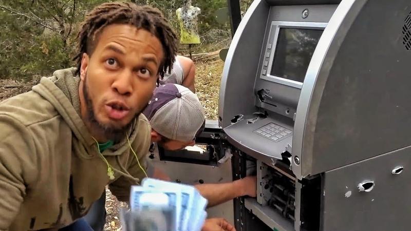 Расстрел и вскрытие обычного банкомата Разрушительное ранчо Перевод Zёбры