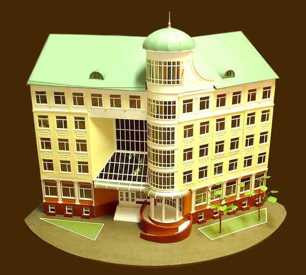 Поделка здание своими руками