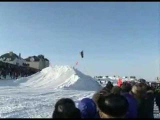 Экстрим-шоу на снегоходах. Буран-дей. Нарьян-Мар.flv