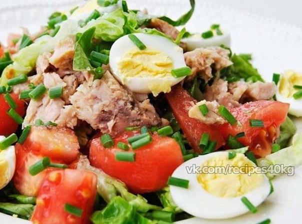Рецепты салатов с тунцом консервированным фотографиями
