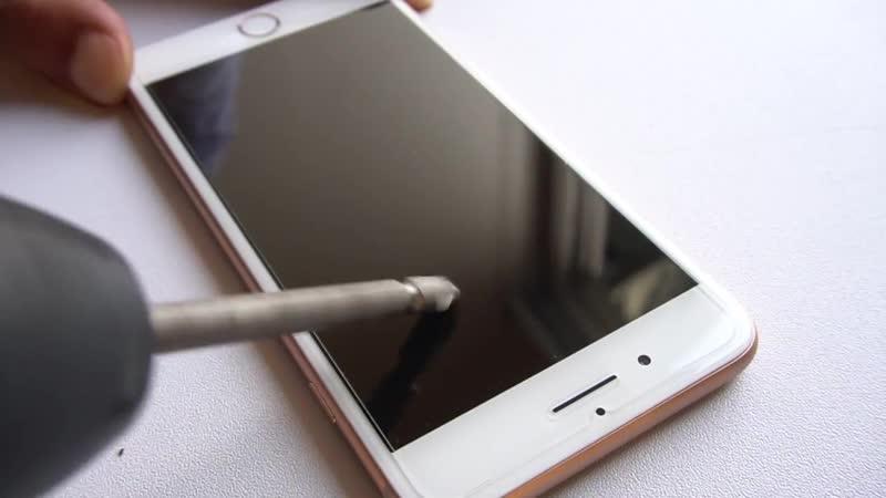 Тест защитного стекла для iPhone