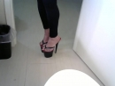 Thong heels long toenails