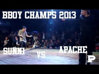 BBoy Champs 2013 | 1on1 Qualifiers | Sunni vs Apache