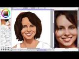 Speedpaint SAI Видеоурок Как нарисовать Ирину Рыбникову правильно.