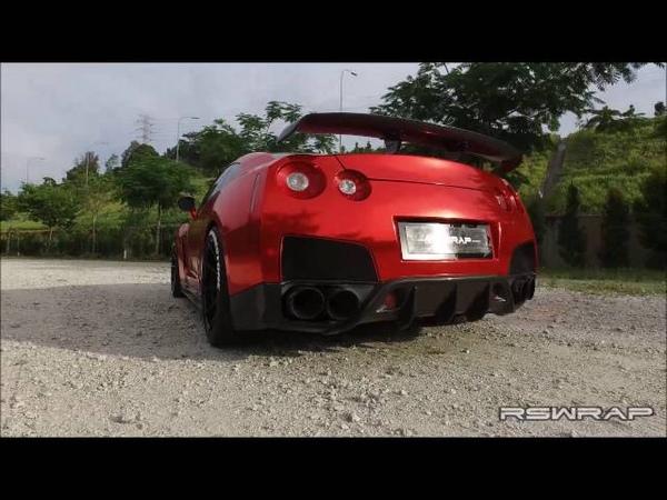 Hairul Azreens Chrome Red Nissan GTR R35 [TEASER]