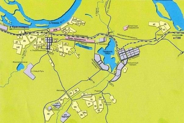 Карта Железногорска